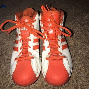Adidas Men's Orange & White Basketball Shoes 11.5